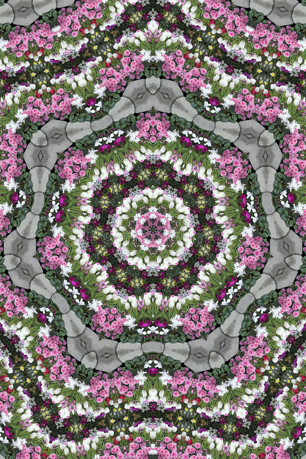 Download Kaleidoscope Garden stock illustration. Illustration of green - 451860