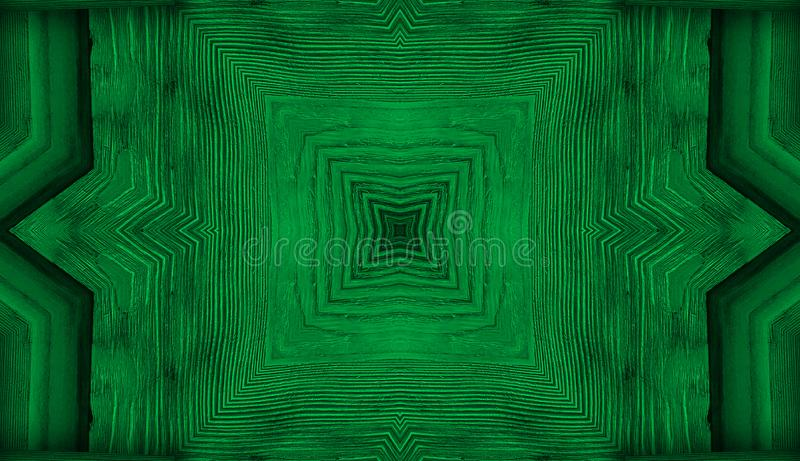 Kaleidoscope. green background fractal mandala, reminding leafs or wooden texture geometrical ornament floral pattern stock photography