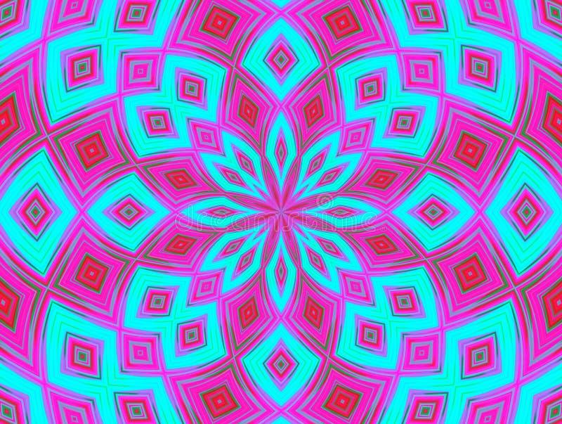 Kaleidoscope pattern royalty free illustration