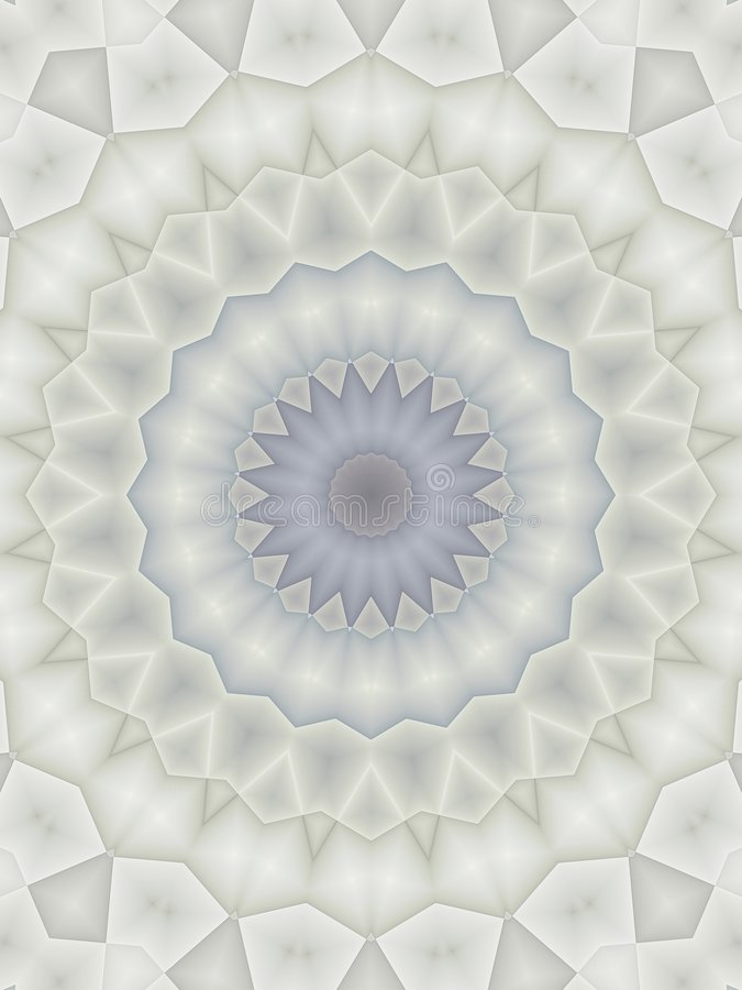 Kaleidoscope Patterns in Blue vector illustration