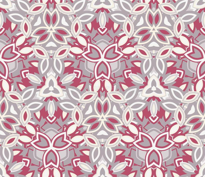 Kaleidoscope seamless pattern, background. Abstract shapes. royalty free illustration