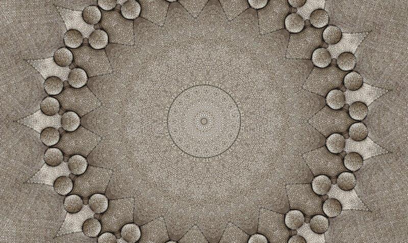 Kaleidoscopic иллюстрация папки проложенной софы ткани стоковое изображение