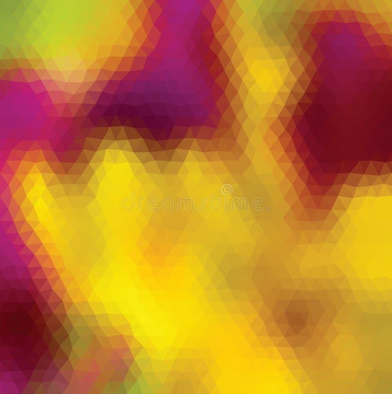 Kaleidoscopic низкая поли предпосылка мозаики стиля треугольника иллюстрация вектора