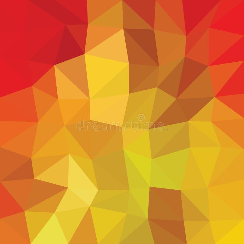 Kaleidoscopic низкая поли предпосылка мозаики стиля треугольника иллюстрация штока