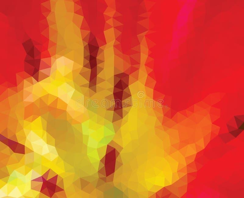 Kaleidoscopic низкая поли предпосылка мозаики стиля треугольника бесплатная иллюстрация