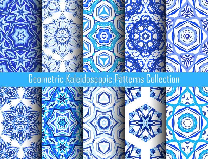 Kaleidoscopic предпосылки сини картин иллюстрация штока
