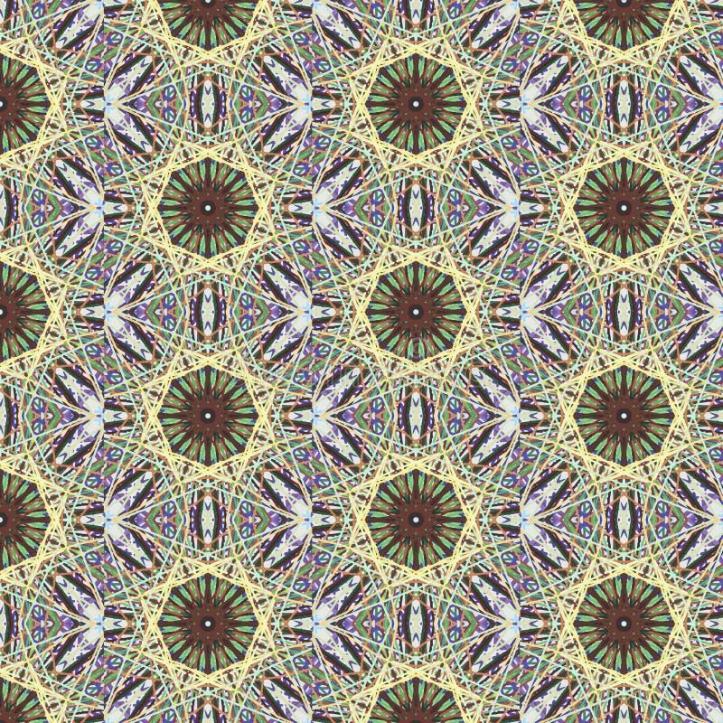 Kaleidoscopic abstract seamless pattern stock photography