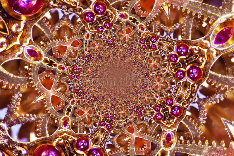 Kaleidoscopic Clockwork. Kaleidoscopic Composition of a Clockwork royalty free stock photo