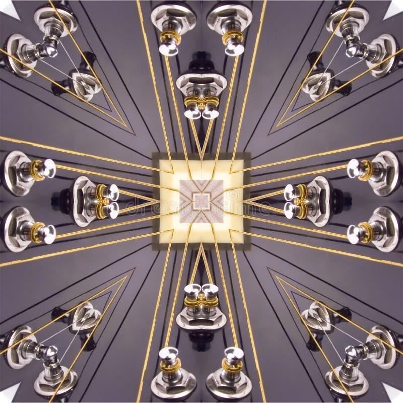Kaleidoscopic guitar stock illustration
