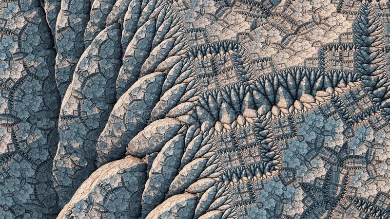 Kaleidoscopic IFS Fractal stock image