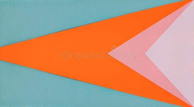 Kaleidoscopic illustration of colored papers royalty free stock photography