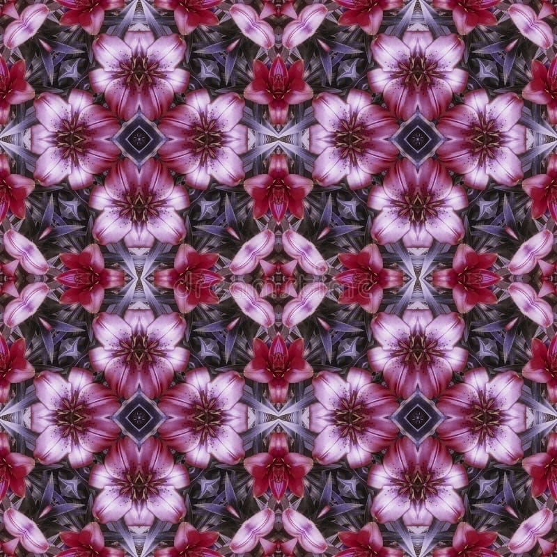 Square flower kaleidoscope stock photos