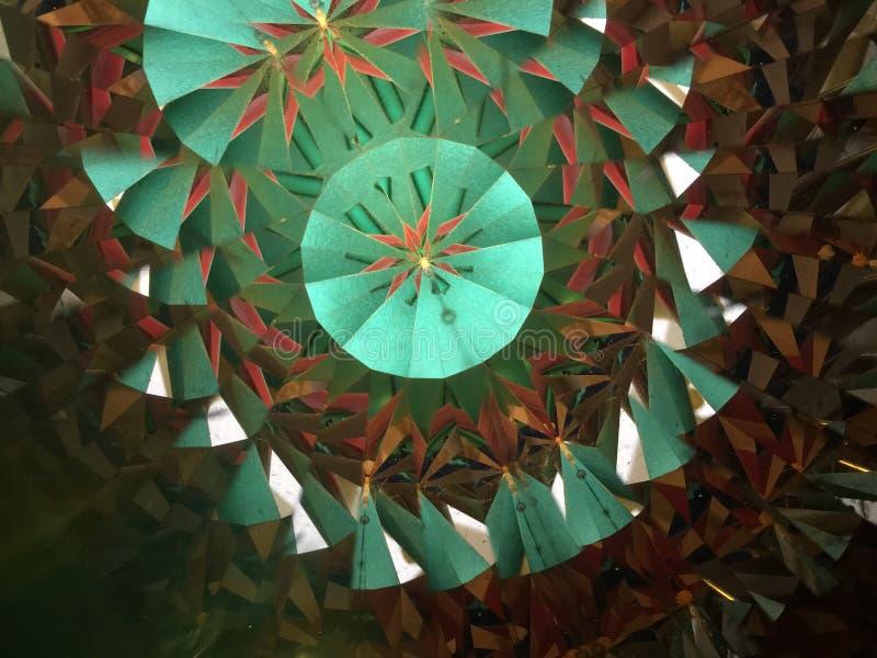 Kaleidoscopic image shooting done with real kaleidoscope stock photography