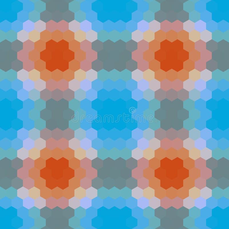 Kaleidoscopic low poly hexagon style vector mosaicbackground. Kaleidoscopic low poly hexagon style vector mosaic background stock illustration
