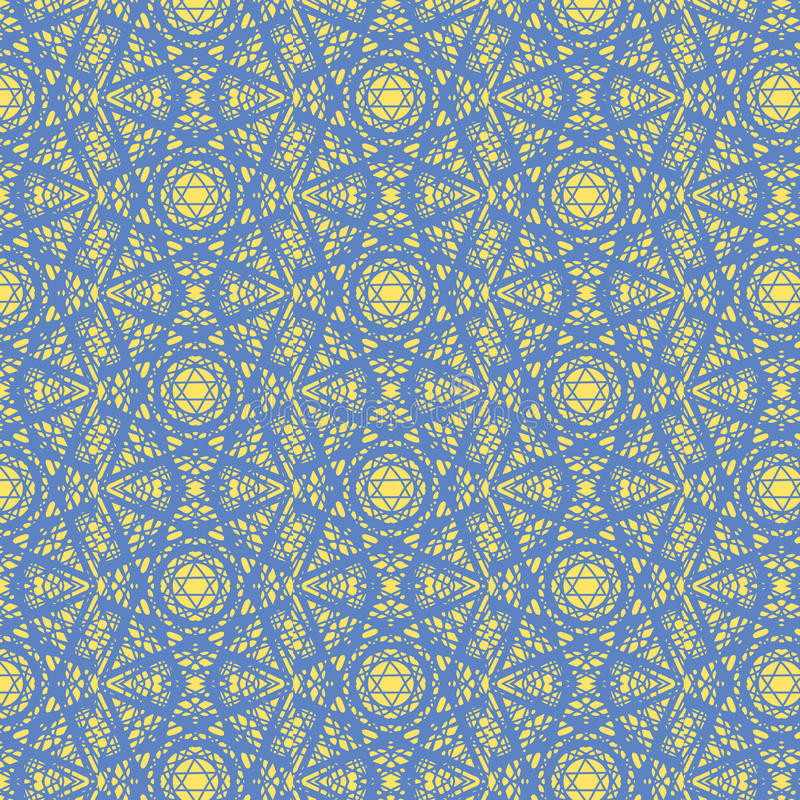Kaleidoscopic Magen David seamless pattern stock images