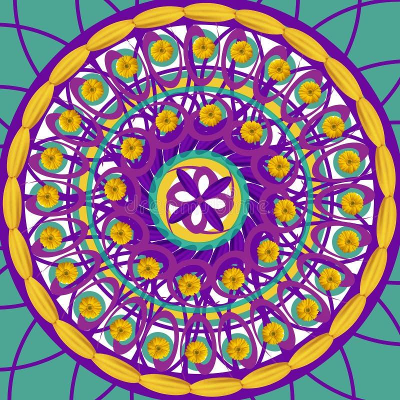 Mandala drawing sacred circle royalty free stock images