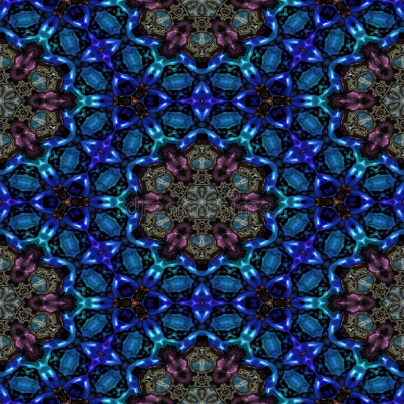Kaleidoscopic ornamental pattern royalty free stock photo