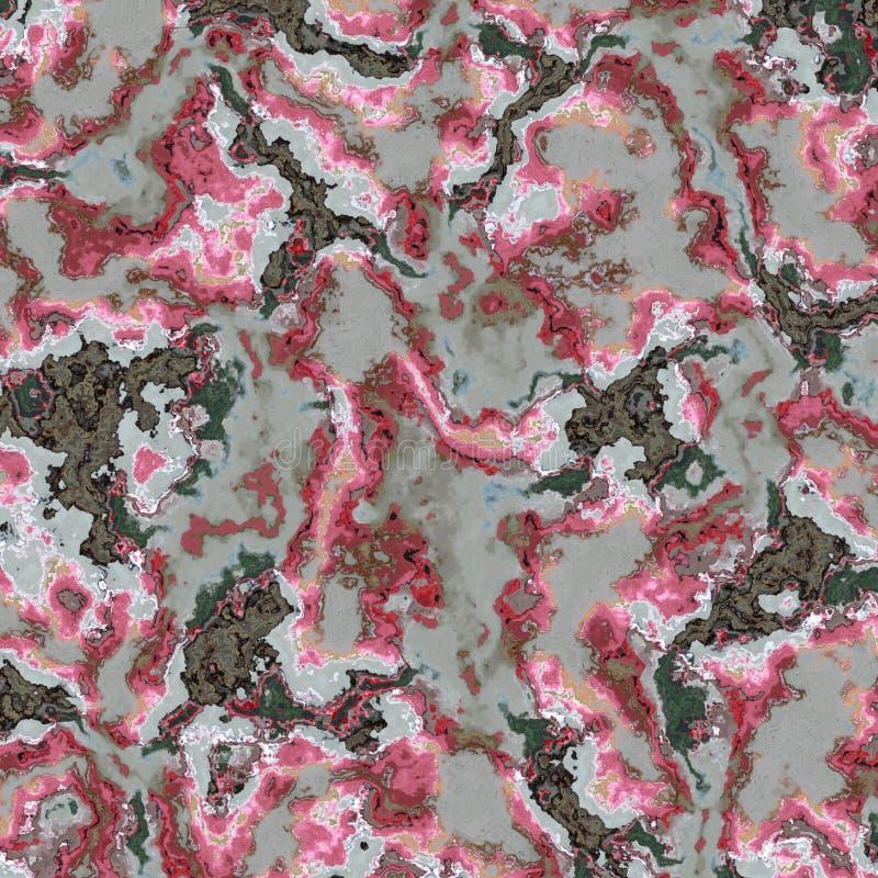 Kaleidoscopic ornamental pattern imitation marble royalty free illustration
