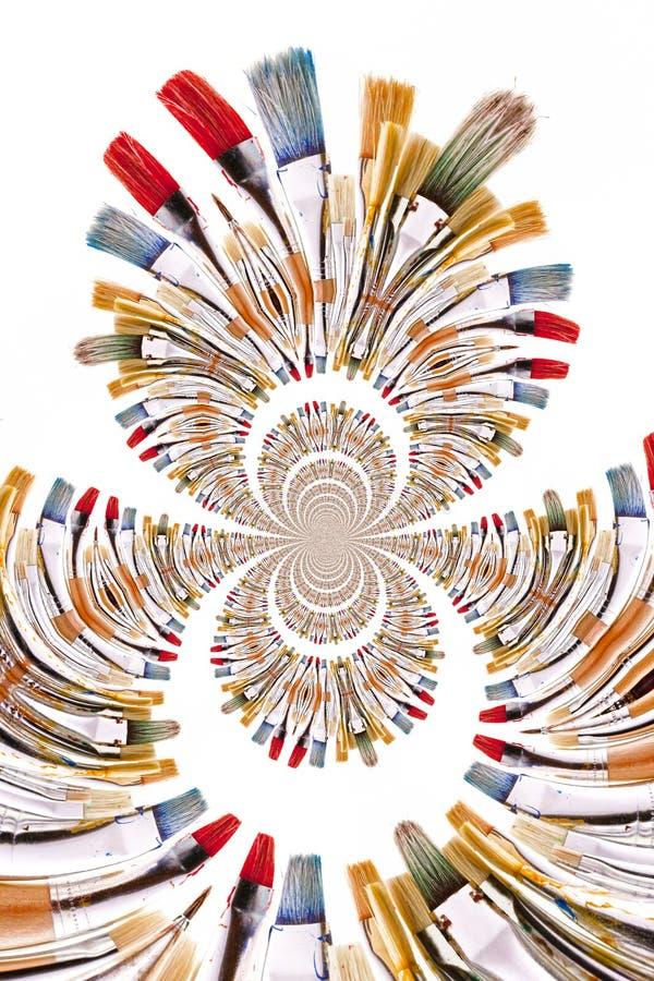 Kaleidoscopic Pattern of Brushes stock illustration