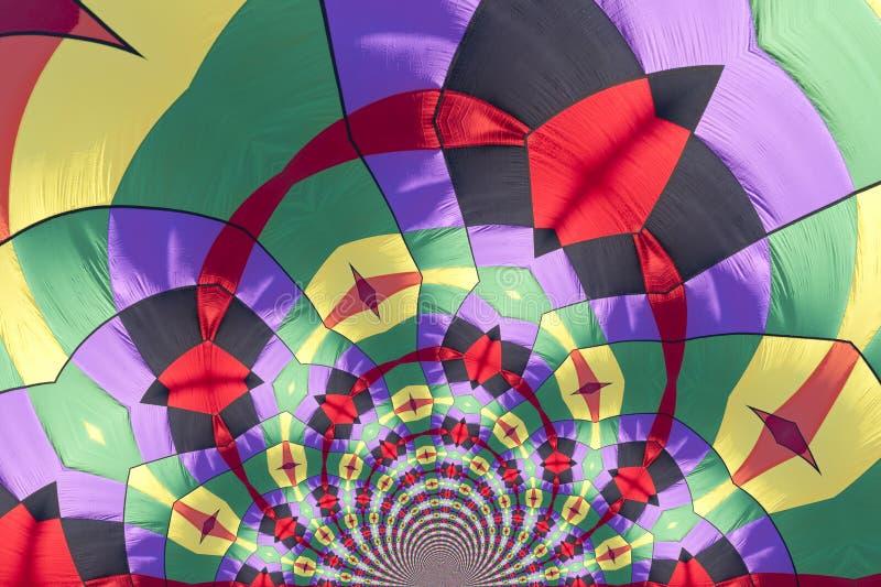 Kaleidoscopic Pattern of a Hot Air Balloon stock illustration