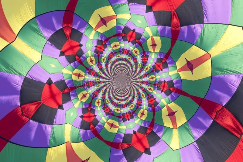 Kaleidoscopic Pattern of a Hot Air Balloon royalty free illustration