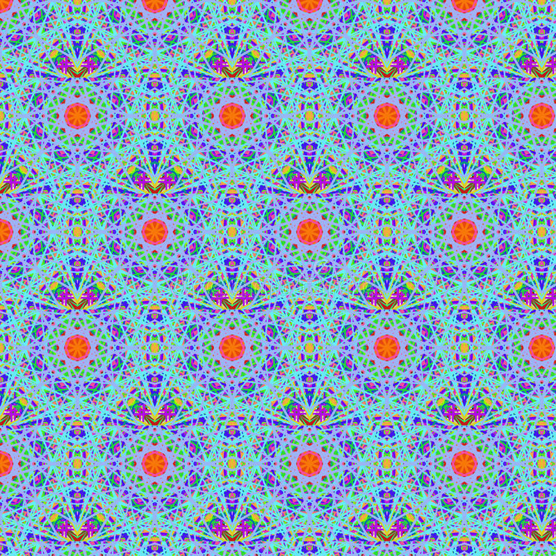 Kaleidoscopic psychedelic seamless pattern stock images