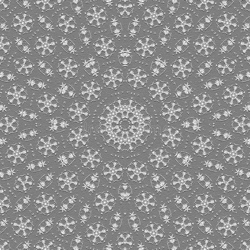 Kaleidoscopic monochrome wallpaper tiles stock illustration