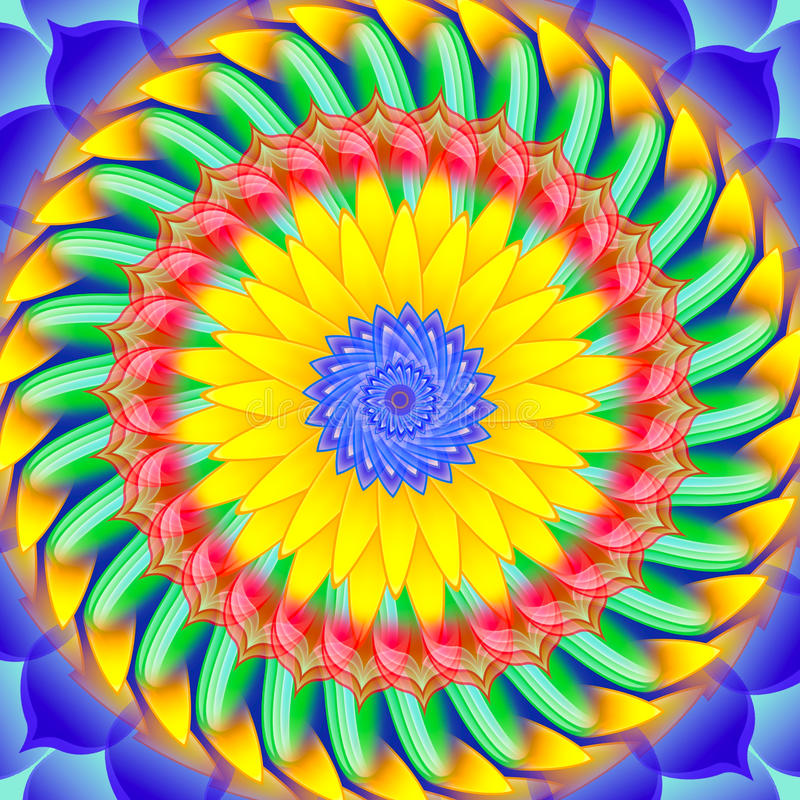 Download Kaleidoscopic Spinning  Sacred Circle Mandala Stock Illustration - Image: 23517606