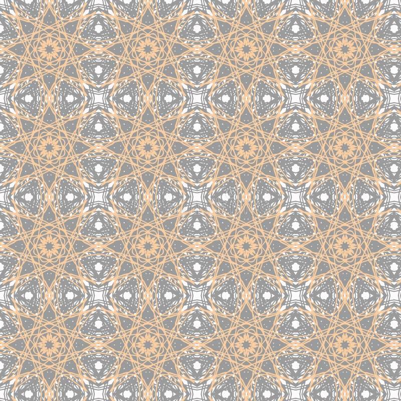 Kaleidoscopic wrapping paper seamless pattern stock photo