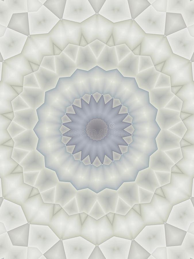 Kaleidoskop-Muster im Blau vektor abbildung
