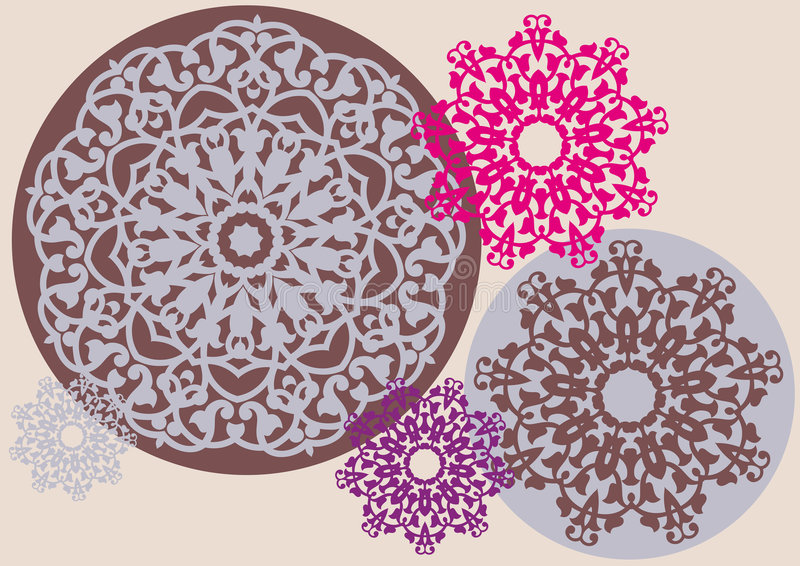 Kaleidoskopisches Blumenmuster stock abbildung