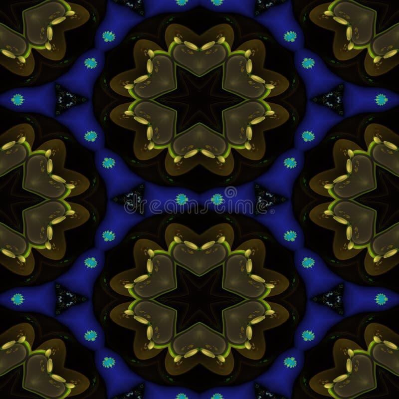 Download Kaleidoskopisches Dekoratives Muster Stock Abbildung - Illustration von spiegel, blumen: 90229824