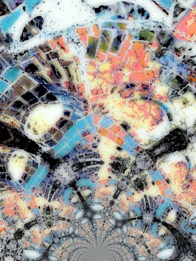 Kaleidoskopisches Muster lizenzfreie abbildung