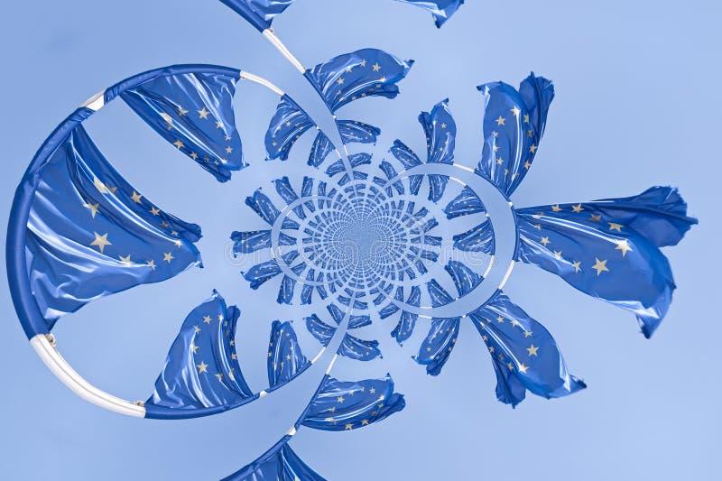 Kaleidoskopisches Muster der europäischen Flagge lizenzfreie abbildung