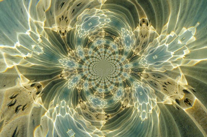 Kaleidoskopisches Muster einer Unterwasserszene vektor abbildung