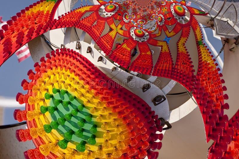 Kaleidoskopisches Muster eines Funfair lizenzfreie abbildung