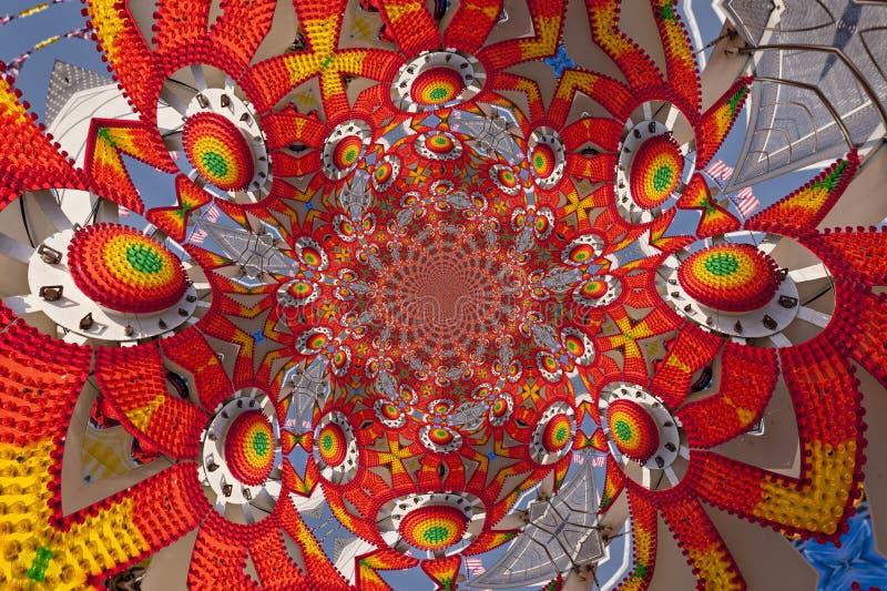 Kaleidoskopisches Muster eines Funfair stock abbildung