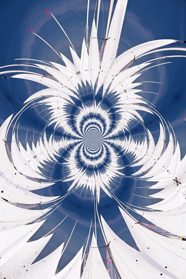 Kaleidoskopisches Muster von Segeln vektor abbildung