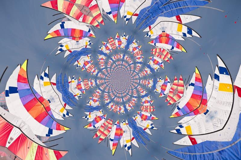 Kaleidoskopisches Muster von Segeln lizenzfreie abbildung