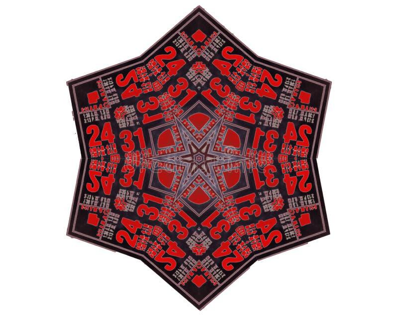 Kaleidosopeeffect, stammenontwerp royalty-vrije stock afbeelding