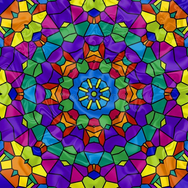 kalejdoskop mozaiki rainbow ilustracja wektor