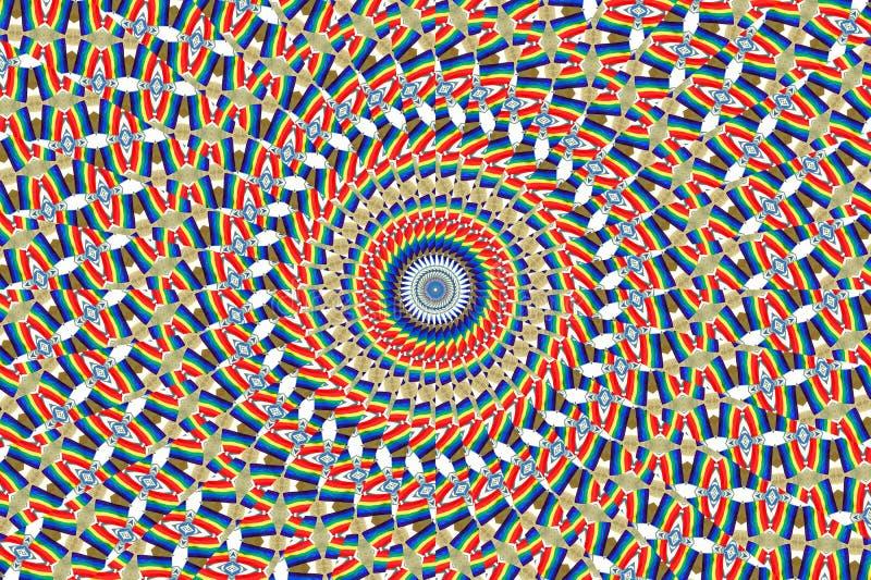 Kalejdoskop tęcza colours abstrakcjonistycznego tło fotografia royalty free