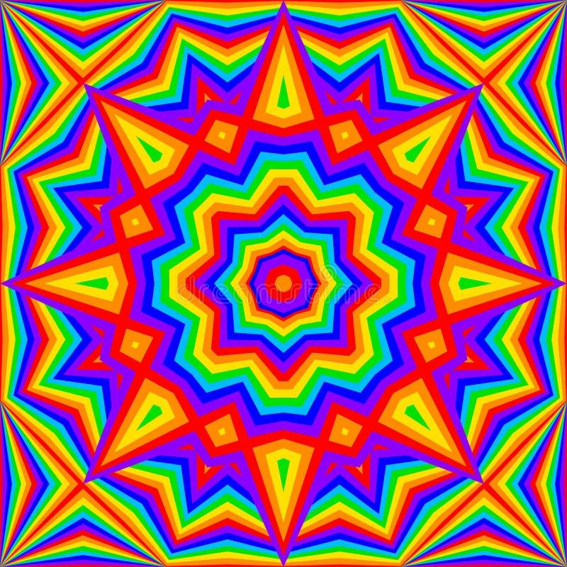 Kalejdoskop tęczy jaskrawy tło ilustracja wektor