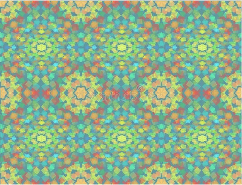 Kalejdoskopbakgrund stock illustrationer