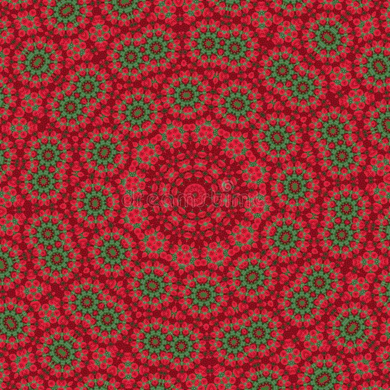 Kalejdoskopbakgrund Abstrakt fractalmandalamodell Tryckdesignen för ytbehandlar garnering illustration för meditation, vektor illustrationer