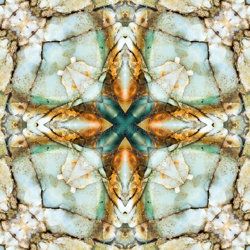 Kalejdoskopfyrkant: chertlager, Oregon kust royaltyfria foton