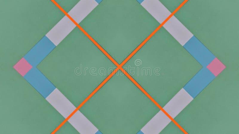 Kalejdoskopisk illustration av kulör legitimationshandlingar vektor illustrationer