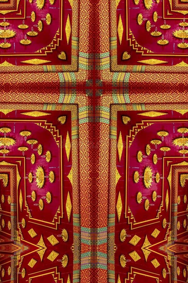 Kalejdoskopkors: Thailändsk paviljong arkivbild
