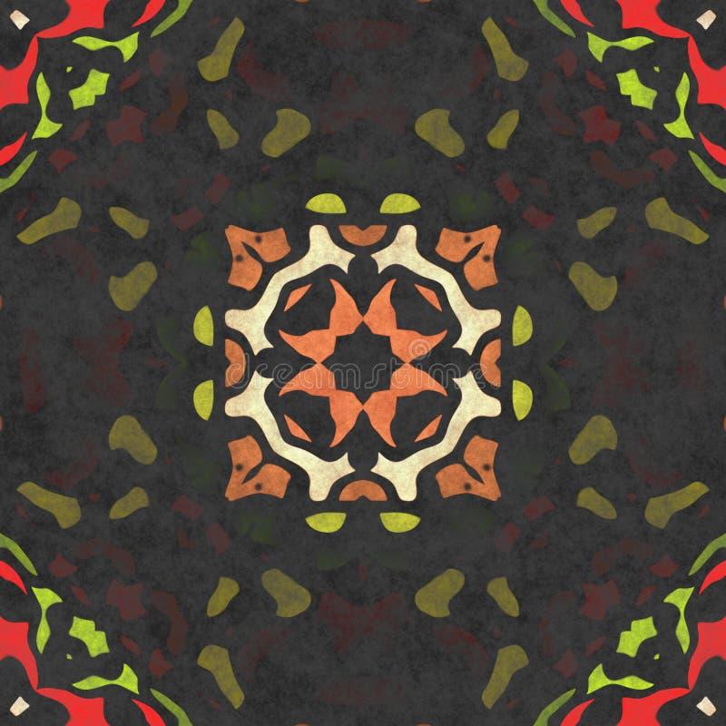 Kalejdoskopowej sztuki geometrii bezszwowy ozdobny zdjęcia stock