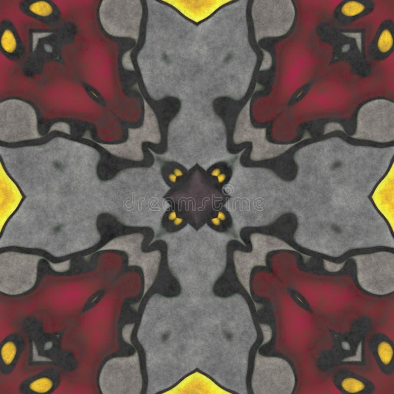 Kalejdoskopowej sztuki geometrii bezszwowy ozdobny obraz royalty free